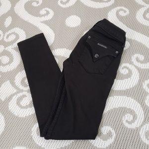 Hudson Black Collin Skinny Denim Jeans Size 24